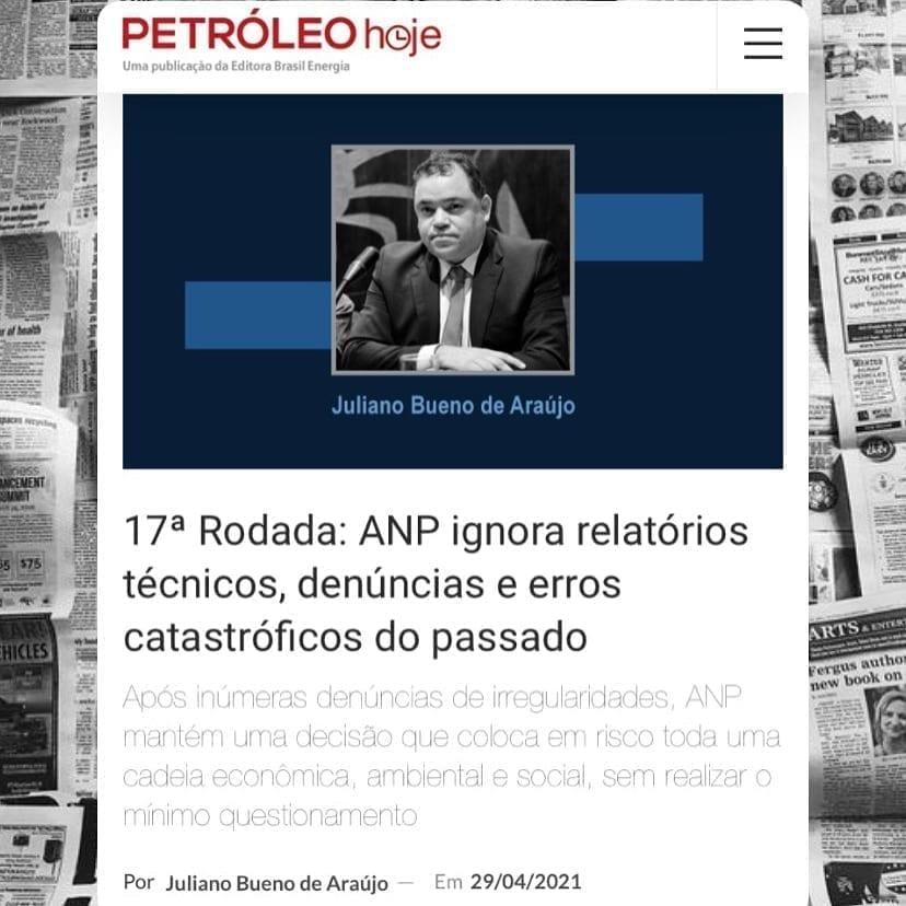 Artigo do Juliano na Petróleo Hoje